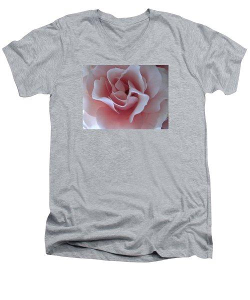 Pink Rose Men's V-Neck T-Shirt