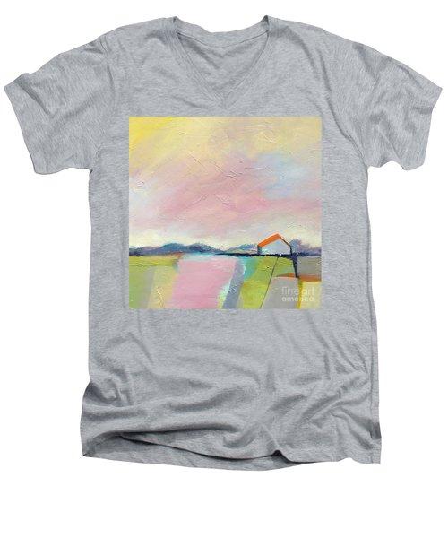 Pink Sky Men's V-Neck T-Shirt