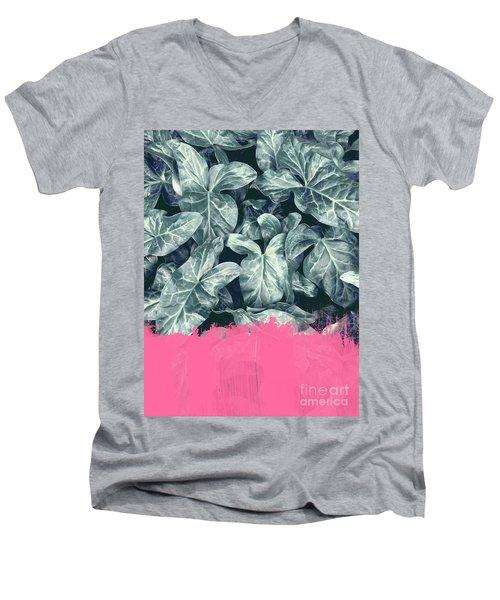 Pink Sorbet On Jungle Men's V-Neck T-Shirt