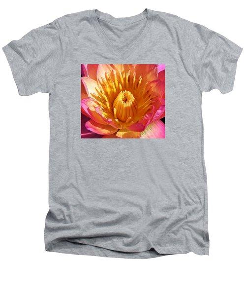 Pink Suprise Men's V-Neck T-Shirt by Bruce Bley