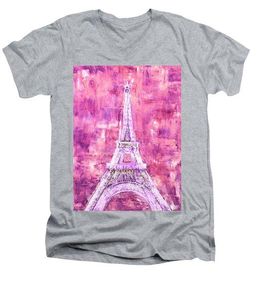 Pink Tower Men's V-Neck T-Shirt