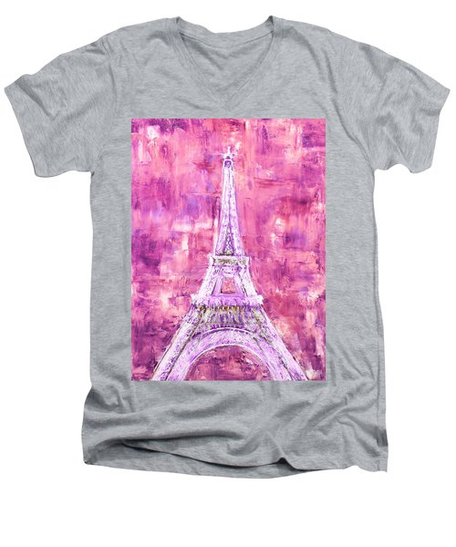 Pink Tower Men's V-Neck T-Shirt