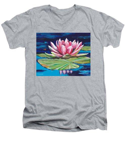 Pink Tranquility Men's V-Neck T-Shirt