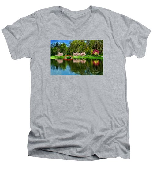 Pinks And Reds Men's V-Neck T-Shirt