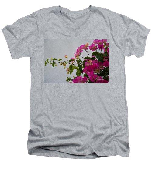 Pinks Portrait Men's V-Neck T-Shirt