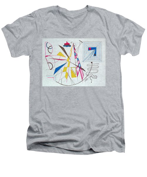 Pinnacle Of Time Men's V-Neck T-Shirt