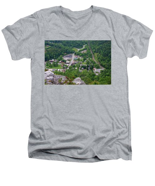 Pinnacle Overlook In Kentucky Men's V-Neck T-Shirt