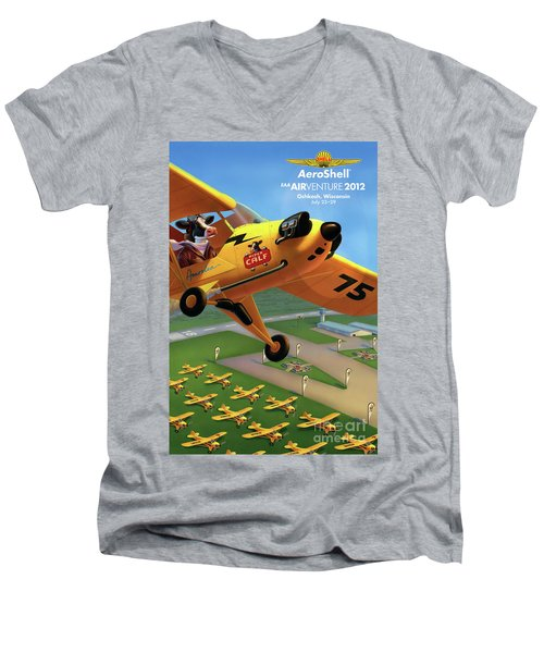 Piper Aircraft Poster  Men's V-Neck T-Shirt