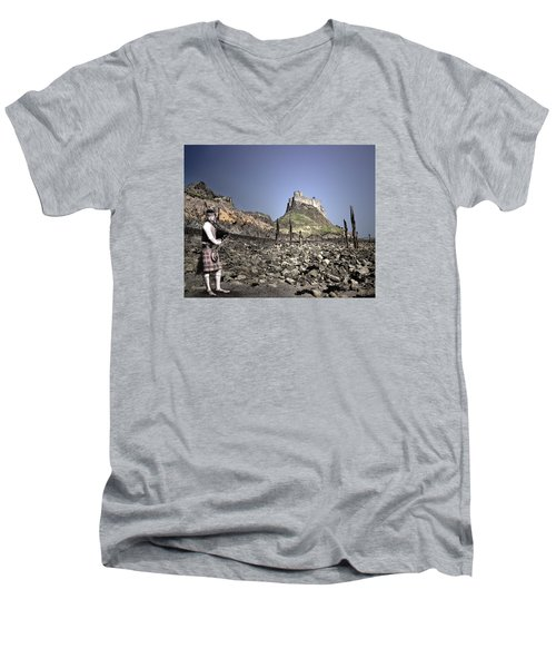 Piper Plays To The Past Men's V-Neck T-Shirt