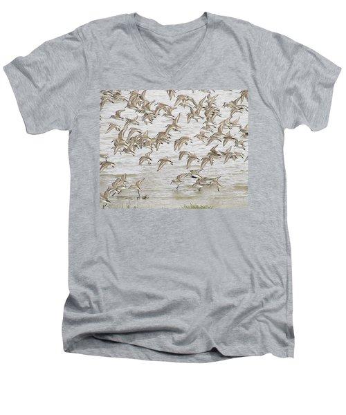Piping In Spring Men's V-Neck T-Shirt by I'ina Van Lawick