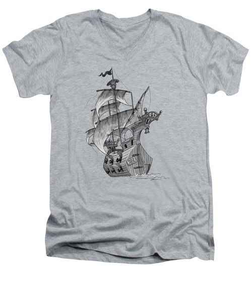Pirate Ship Men's V-Neck T-Shirt