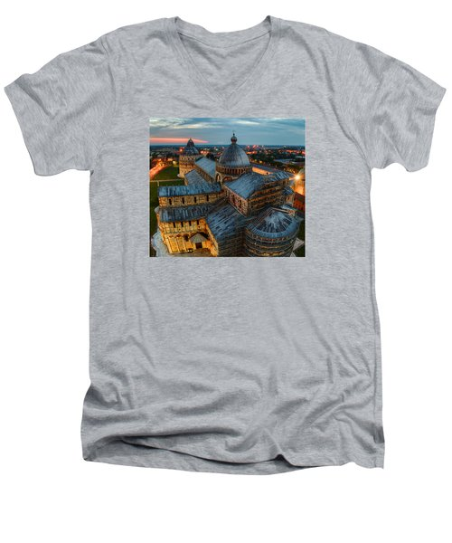 Pisa Cathedral Men's V-Neck T-Shirt by Robert Charity