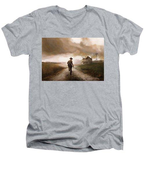 Un Pistola Men's V-Neck T-Shirt