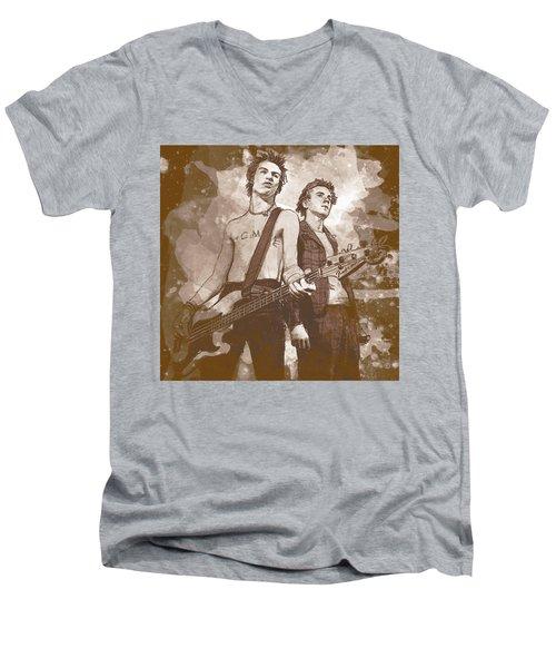 Pistols Men's V-Neck T-Shirt by Kurt Ramschissel