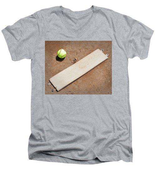 Pitchers Mound Men's V-Neck T-Shirt by Kelley King