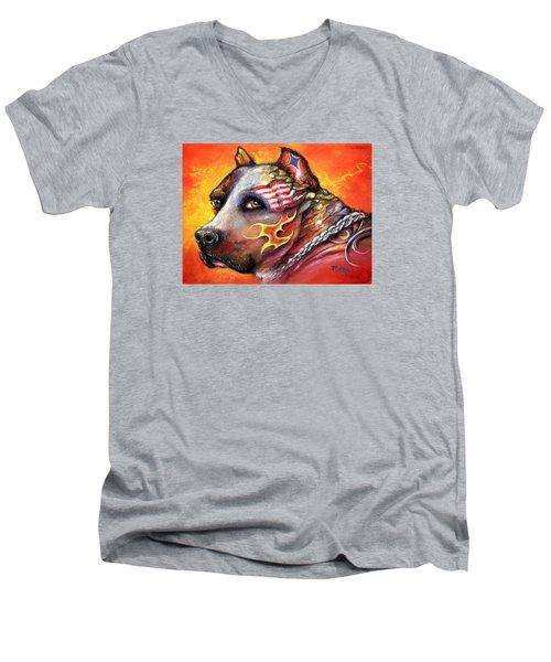 Pit Bull Men's V-Neck T-Shirt