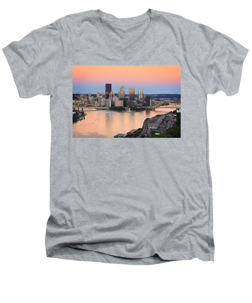 Pittsburgh 16 Men's V-Neck T-Shirt by Emmanuel Panagiotakis