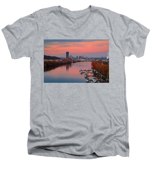 Pittsburgh 31st Street Bridge  Men's V-Neck T-Shirt