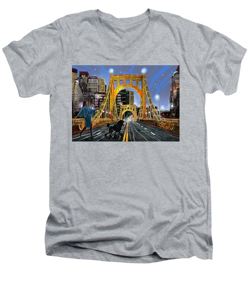 Pittsburgh Chic Men's V-Neck T-Shirt