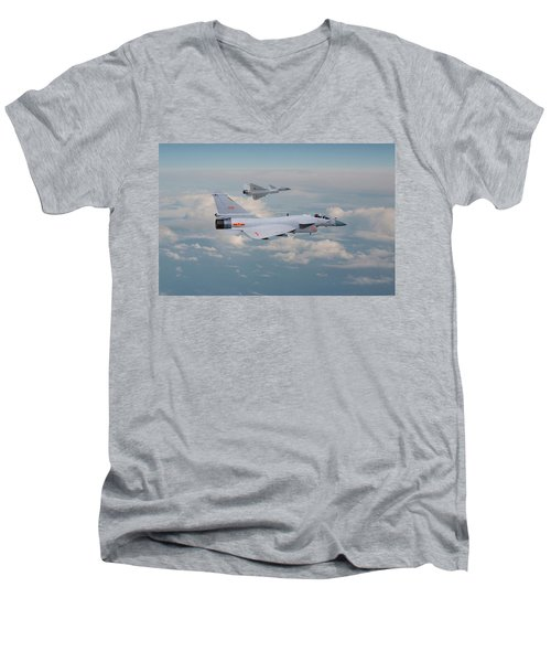 Men's V-Neck T-Shirt featuring the photograph Plaaf J10 - Vigorous Dragon by Pat Speirs
