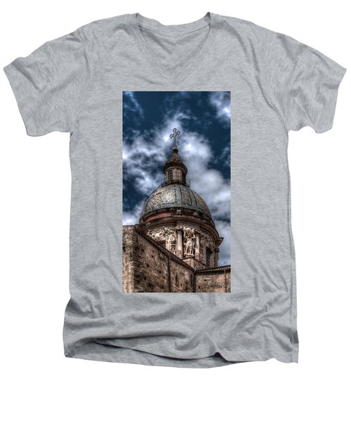 Place Of Worship Men's V-Neck T-Shirt by Patrick Boening