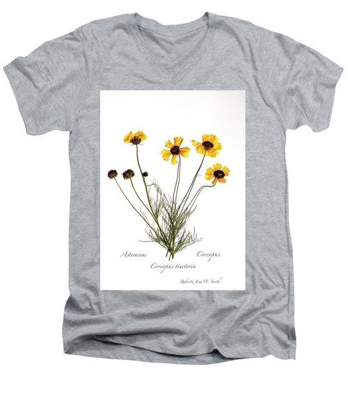 Plains Coreopsis Men's V-Neck T-Shirt