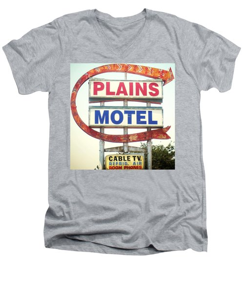 Plains Motel Men's V-Neck T-Shirt