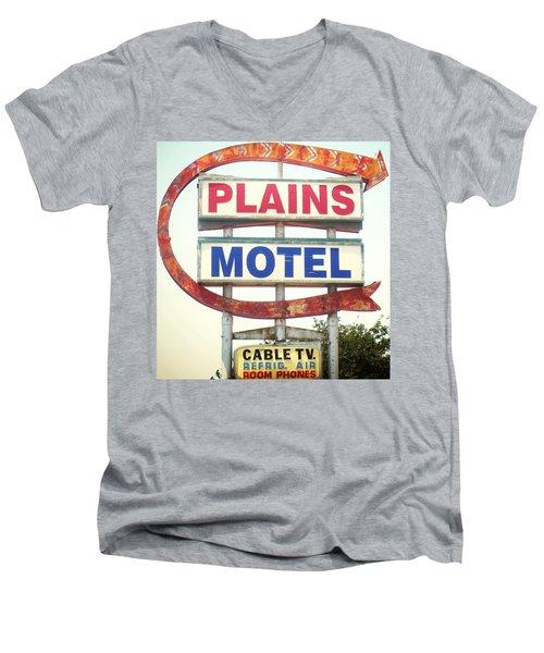 Plains Motel Men's V-Neck T-Shirt