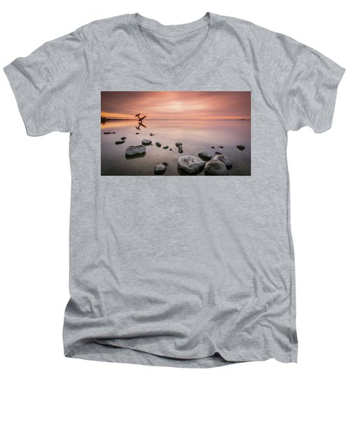 Plane And Colors Men's V-Neck T-Shirt
