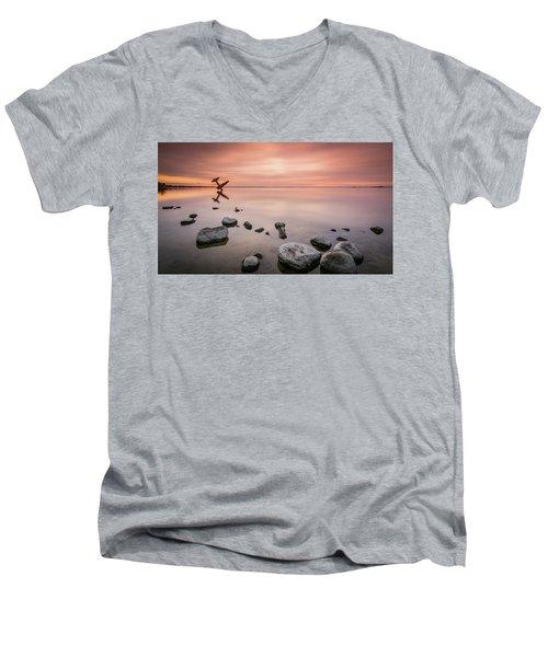 Plane And Colors Men's V-Neck T-Shirt