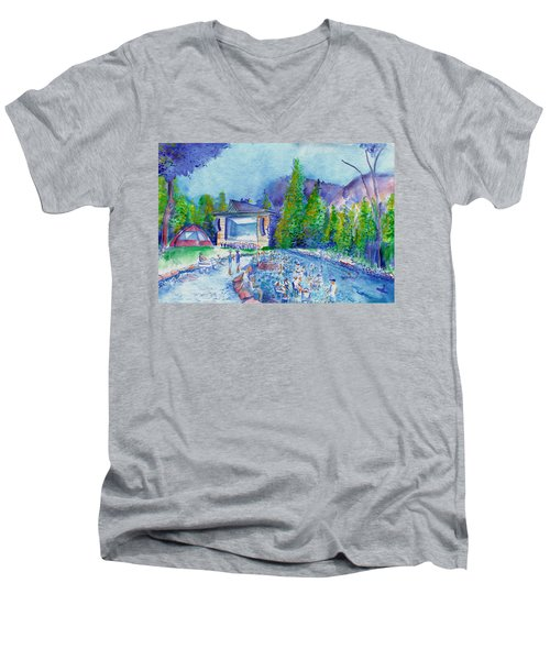 Planet Bluegrass Lyons Colorado Men's V-Neck T-Shirt