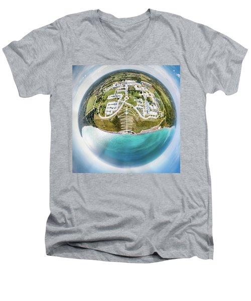 Men's V-Neck T-Shirt featuring the photograph Planet Concordia by Randy Scherkenbach