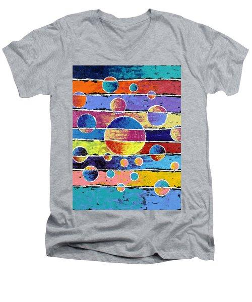 Planet System Men's V-Neck T-Shirt