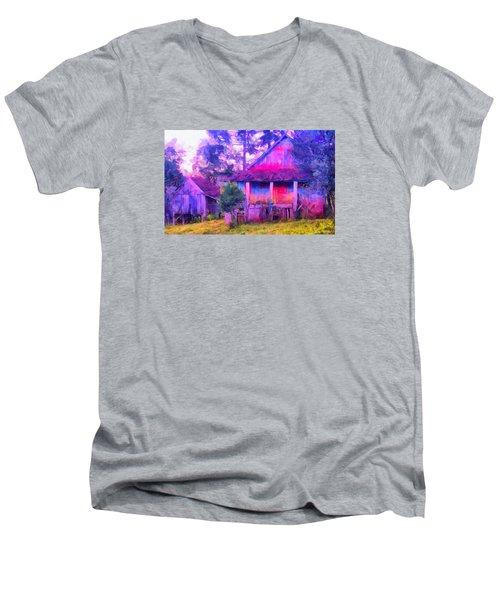Plank Homes Men's V-Neck T-Shirt