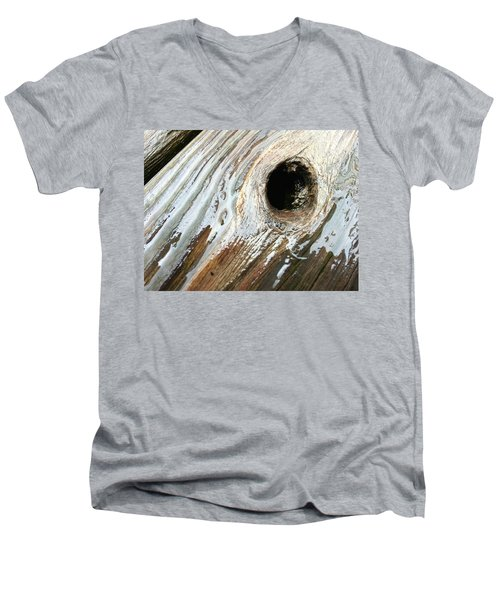 Men's V-Neck T-Shirt featuring the photograph Planking The Right Way? by Robert Knight