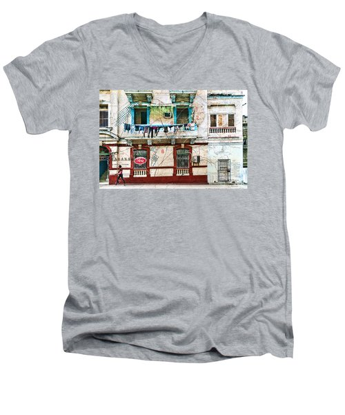 Plano De La Habana Men's V-Neck T-Shirt
