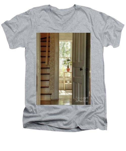 Plant In Window Men's V-Neck T-Shirt