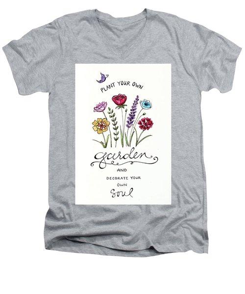 Plant Your Own Garden Men's V-Neck T-Shirt