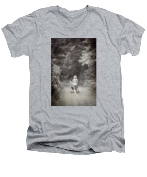 Planting-sepia Men's V-Neck T-Shirt
