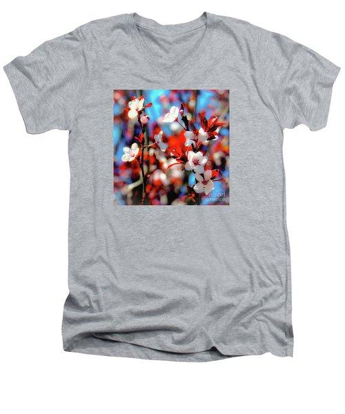 Plants And Flowers Men's V-Neck T-Shirt
