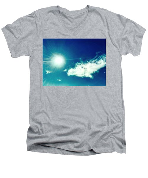 Platinum Rays And Angelic Cloud Bless The Prairie Men's V-Neck T-Shirt