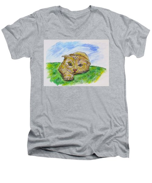 Play With Me Men's V-Neck T-Shirt by Clyde J Kell