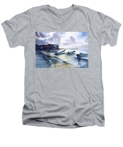 Playa Del Carmen Men's V-Neck T-Shirt