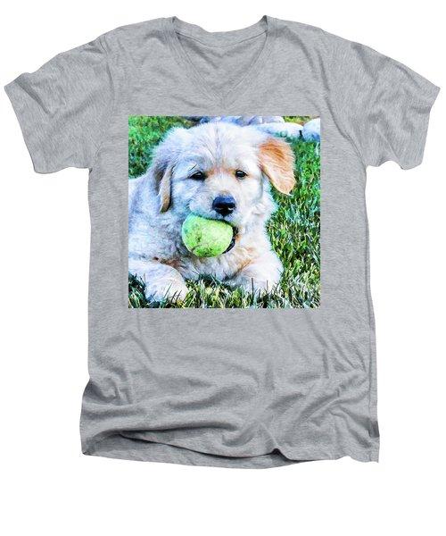 Playful Pup Men's V-Neck T-Shirt
