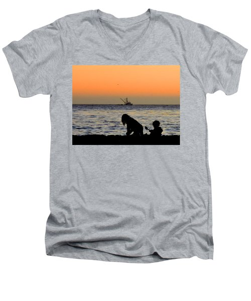 Playful Time Men's V-Neck T-Shirt