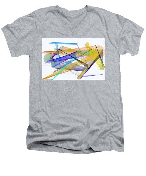 Men's V-Neck T-Shirt featuring the digital art Playground by Rafael Salazar