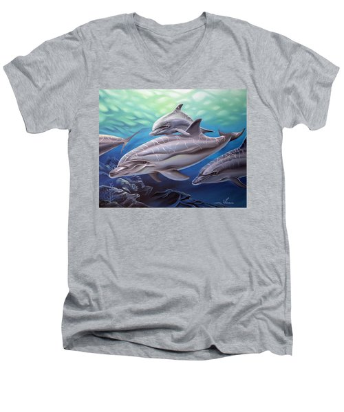 Playground Men's V-Neck T-Shirt by William Love