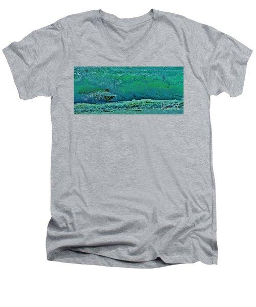 Playing In The Shore Break Men's V-Neck T-Shirt