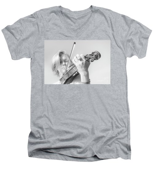 Men's V-Neck T-Shirt featuring the photograph Playing Me Softly by Bob Christopher