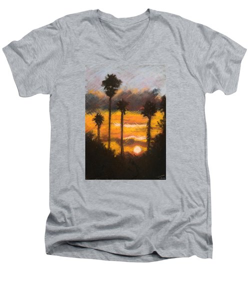 Playing With Fire, San Diego Men's V-Neck T-Shirt